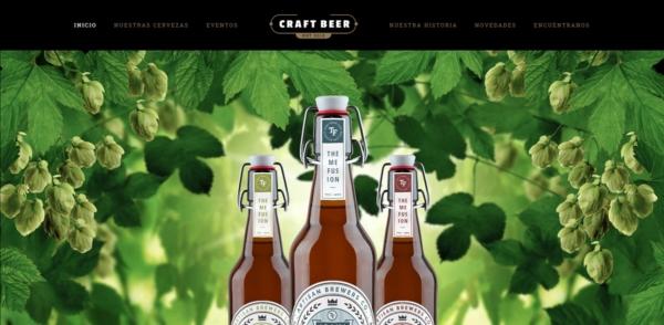 Página web para cervecerías