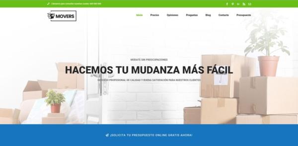 Página web para Empresa de Mudanzas