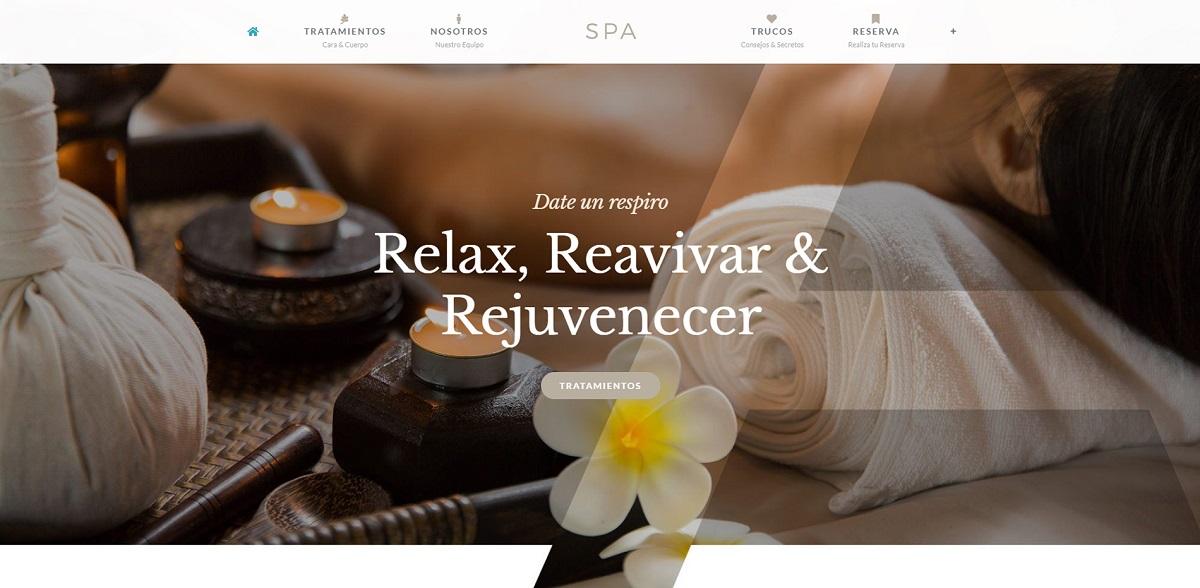 Página web para Spa