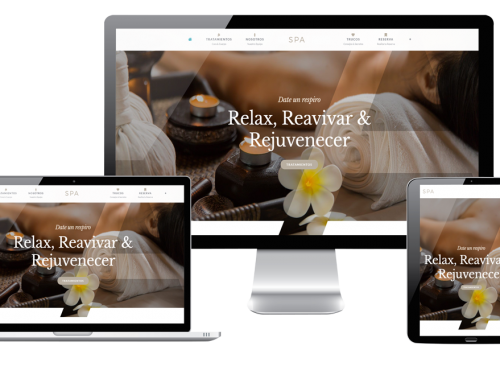 Página Web para tu spa