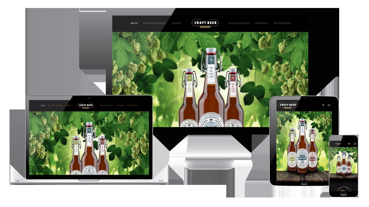 Página web responsive para bar