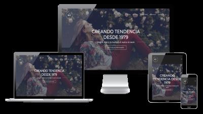 Página web responsive para tienda de moda