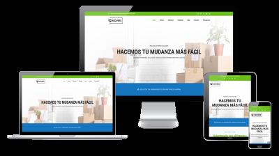 Página web responsive de empresa de mudanzas