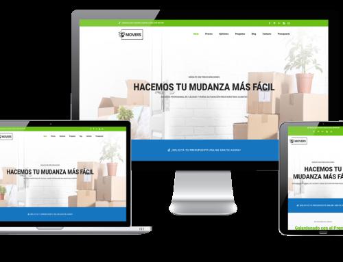 Página Web tu empresa de mudanzas