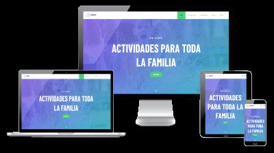 Página web responsive para gimnasio