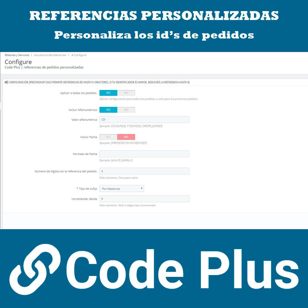 Pantalla 1 Módulo de Referencias de Pedidos Personalizadas