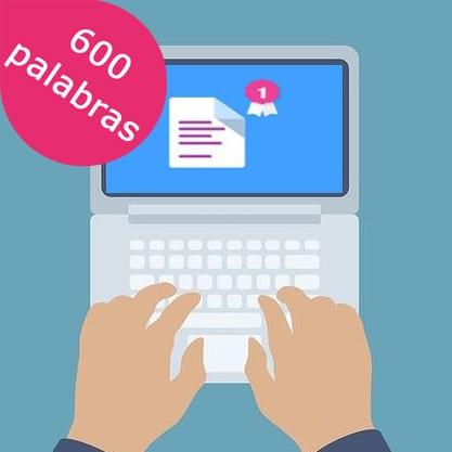 Redacción de Post de 600 palabras